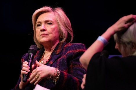 Clinton speaking at an event in London last weekend.