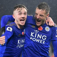 Chilwell joking with Vardy about possible England return