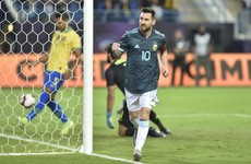 Messi hits winner on international return from ban as Argentina overcome Brazil