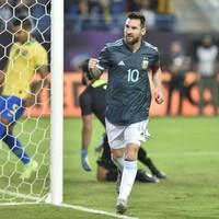 Messi hits winner on international return from ban as Argentina overcome Brazil