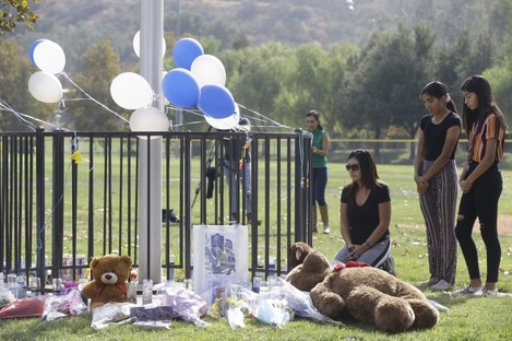 A memorial set up for the victims of the shooting.