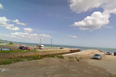 General view of Courtown Harbour, where the accident took place