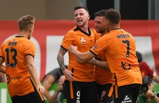 Irish striker's hat-trick helps Fowler to first A-League win with Brisbane Roar