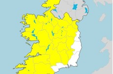 Status Yellow low temperature warning issued for most of the country this evening
