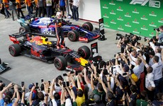 Verstappen wins crazy Brazilian Grand Prix as both Ferraris crash out