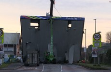 Petrol forecourt's roof torn down in attempted ATM robbery