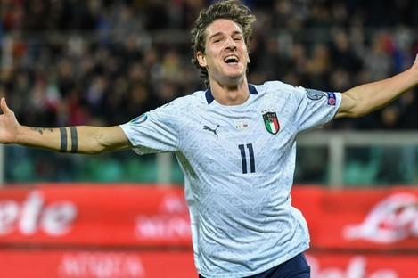 Italy midfielder Nicolo Zaniolo.