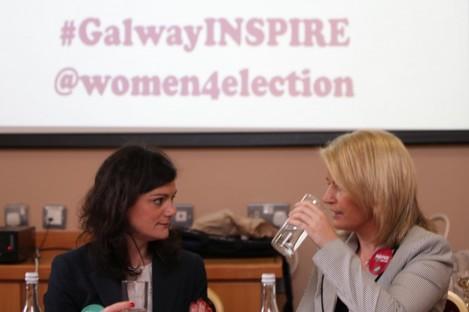 Niamh Gallagher and Senator Lorraine Higgins.