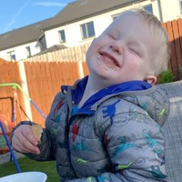 'I was just so happy to see him smiling': Stacey shares the story behind this cheeky snap