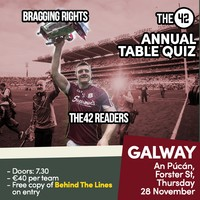The42's Big, Big Sports Table Quiz is coming to Galway next week