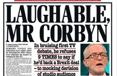 'Hazardous duel', 'Laughable Mr Corbyn': UK papers react to 'bruising' live TV debate