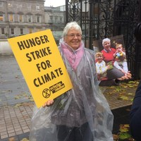 Grandmother launches hunger strike at Dáil gates in protest over Ireland's climate policies