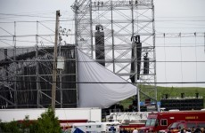 Stage collapse at Radiohead concert leaves one dead