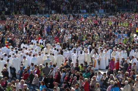 Pilgrims at the RDS earlier this week