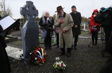 Headstones erected at unmarked graves of 1920 Bloody Sunday victims