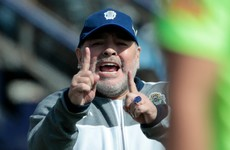 Diego Maradona returns as coach of Argentine club two days after leaving