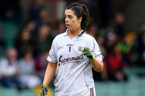 Lisa Murphy of Galway during the 2019 TG4 Connacht Ladies Senior Football Final replay between Galway and Mayo at the LIT Gaelic Grounds in Limerick.