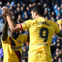 Messi, Griezmann, Suarez and Dembele all start, as Barcelona scrape late victory against bottom side