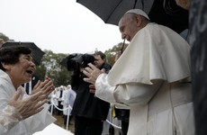 Pope Francis condemns nuclear weapons while visiting Nagasaki