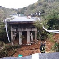 Motorway section collapses in Italy following heavy rainfall
