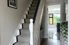 'We love the bench area under the stairs': Amy shares her recently revamped hallway in Naas