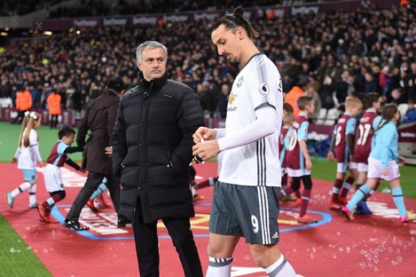 Mourinho and Ibrahimovic during their time at Man United.