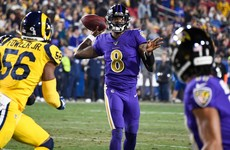 Five-star Lamar runs riot as Ravens thrash the Rams