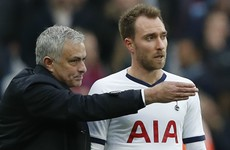 Mourinho hints Eriksen could be marginalised at Spurs