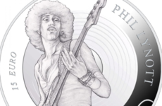 A €15 silver coin has been minted by the Central Bank in tribute to Phil Lynott