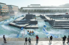 This is what the new white-water rafting attraction at Dublin's IFSC will look like