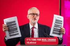 Jeremy Corbyn reveals unredacted documents which he says shows NHS is 'up for sale'