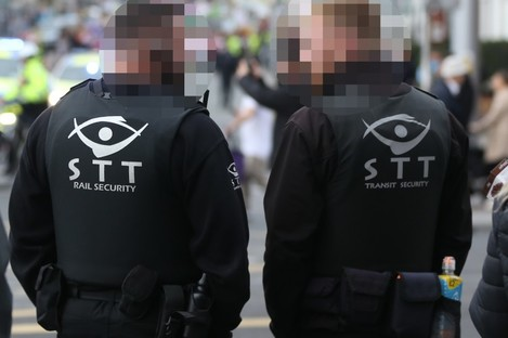 STT Risk management is contracted to provide security on the Luas.