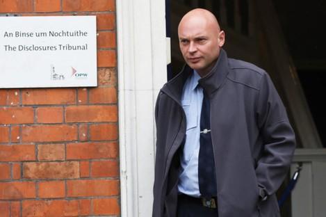 Garda whistleblower Nicholas Keogh leaving the tribunal in Dublin Castle earlier this week,