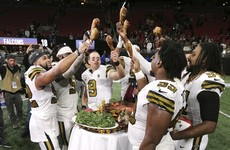 Saints clinch third straight NFC South title, Bills and Bears also win on US Thanksgiving