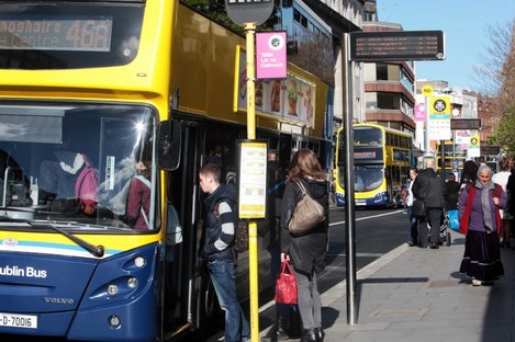 File photo. Monthly and annual Dublin Bus fares rise from today.