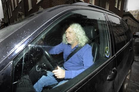 Mick Wallace leaving the Dáil in his car last Thursday