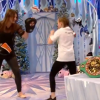 And the new... Katie Taylor surprises young fan Ella in Toy Show finale