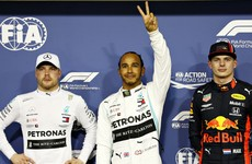 Hamilton ends pole drought with Abu Dhabi track record