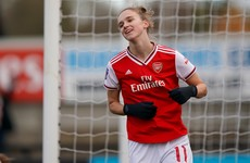 Dutch striker Miedema scores 6 and makes 4 assists in record Arsenal win