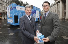 Contactless charity donations were introduced around Dublin today