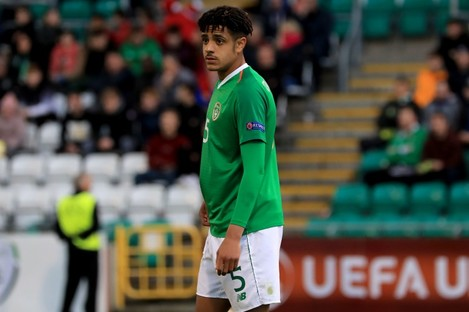 Andrew Omobamidele pictured competing in the U17 Euros earlier this year.