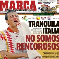 This is Marca's front page today - 'Don't worry Italy, we're not resentful'