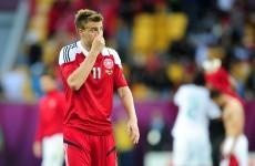 Bendtner fined, suspended for goal celebration