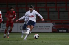 Parrott scores twice in 14 minutes to knock holders Liverpool out of the FA Youth Cup