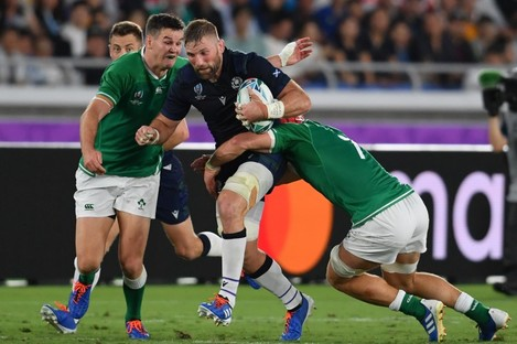 Barclay facing Ireland at the World Cup in September.