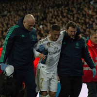 Hazard ruled out of his first El Clasico with ankle fracture