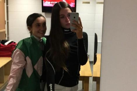 Vanessa Maye with sister Jessica.