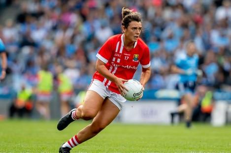 Cork captain Doireann O'Sullivan.