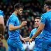 Sexton injured, Larmour lights it up as Leinster thrash Saints