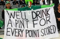 Irish supporters showed 'they can't handle alcohol' - NZ police chief